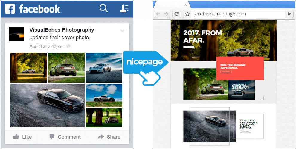 Nicepage AI for Facebook