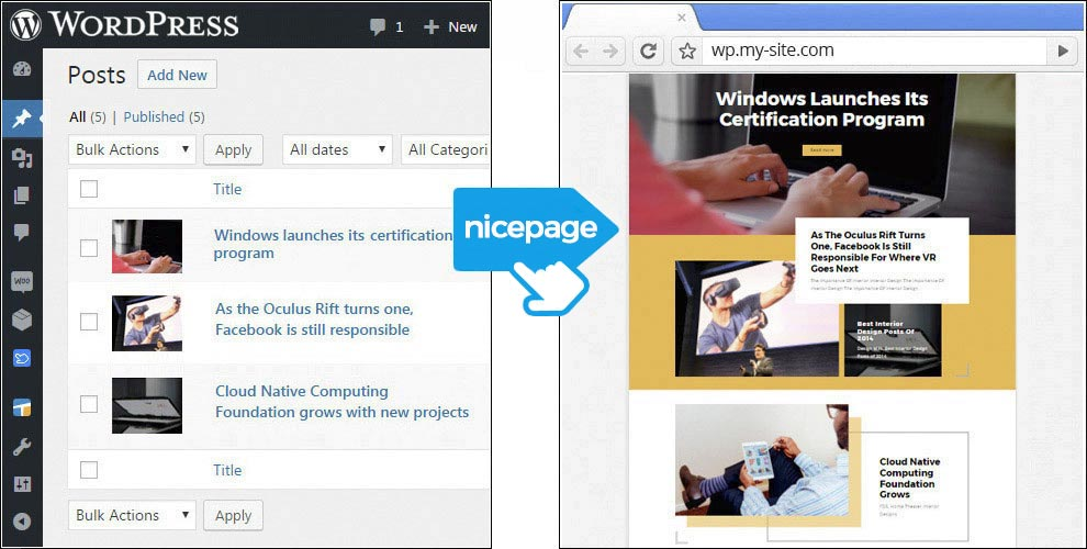 Nicepage AI for WordPress